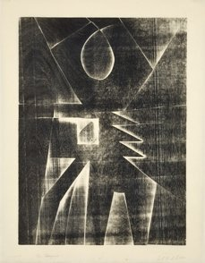 21: Mel Kendrick. For Marjorie  1990, Woodcut