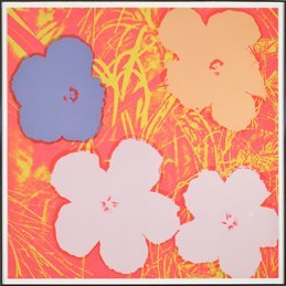 27: Andy Warhol, Flowers, ca. 1970, Silkscreen