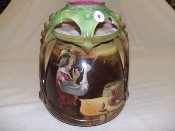 8: large Royal Bayreuth hand painted vase