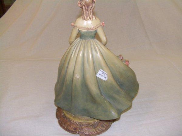 11: Grand Porcelain Figural of woman holding Basket  - 6