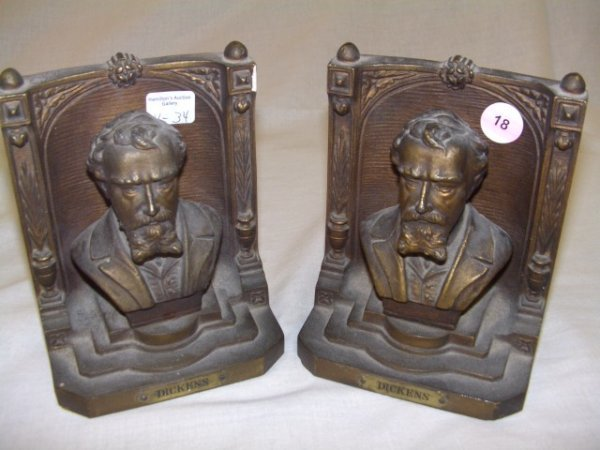 18: 2 piece marked B and H  Bradley and Hubbard bookend