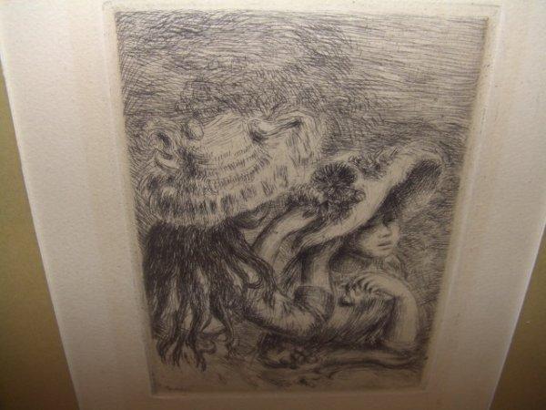 21: original Renior signed engraving in fancy frame