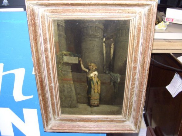 56A: stunning master oil painting on panel
