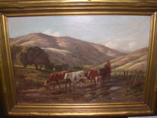 56B: oil painting on canvas by California artist