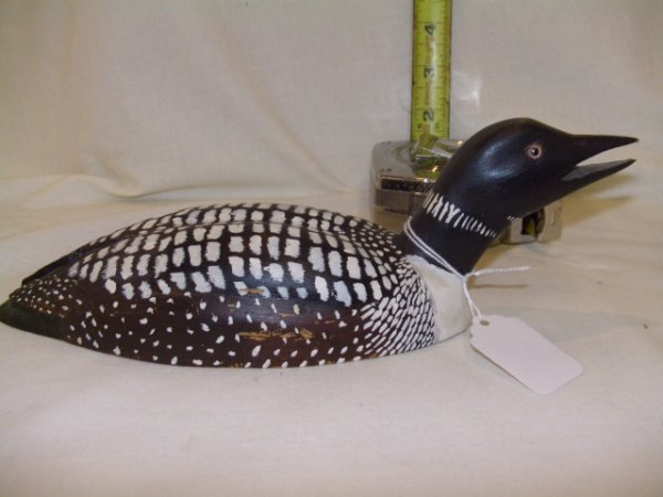 333: Vintage handcarved and painted duck decoy