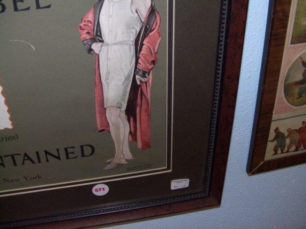 571: 1917 framed advertiser for B. V. D. Underwear Ad - 4