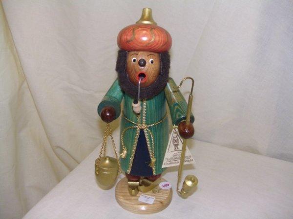 681: handmade and painted German smoker figurine