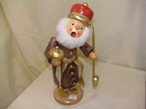 683: handmade and painted German smoker figurine
