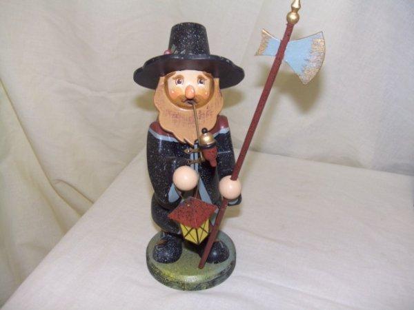 685: handmade and painted German smoker figurine comes