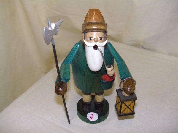701: handmade and painted German smoker figurine comes