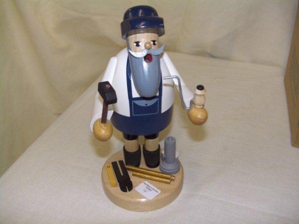 704: handmade and painted German smoker figurine comes