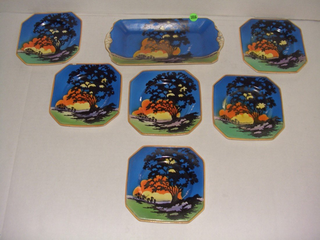 "1016: Art Deco Barker Bros. hand painted ware ""The Stor"