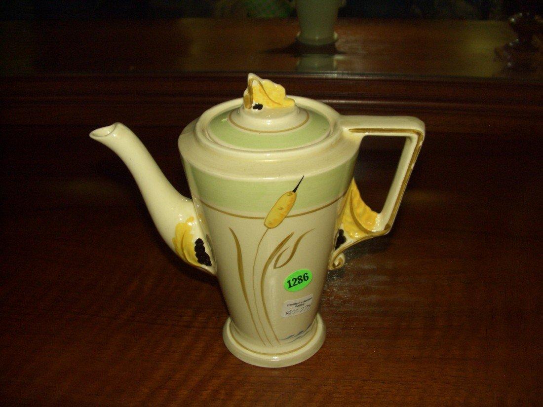 1286: 1930's deco Burleigh tea pot