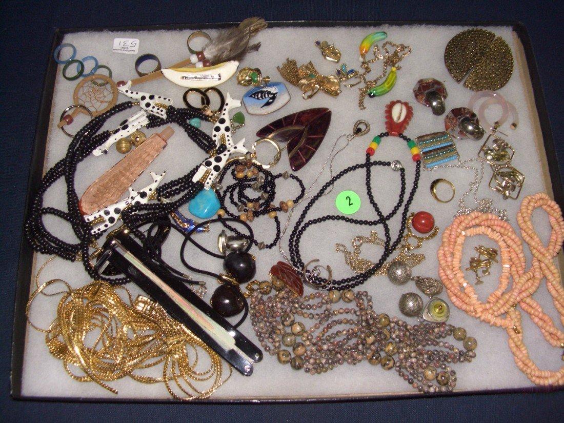 2: tray of estate jewelry