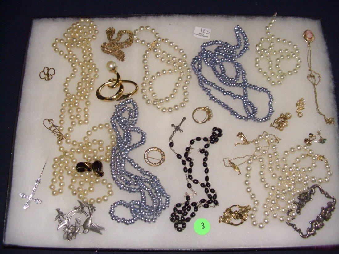 3: tray of estate jewelry