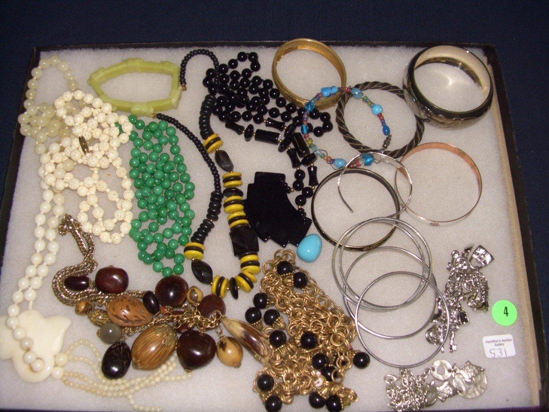 4: tray of estate jewelry