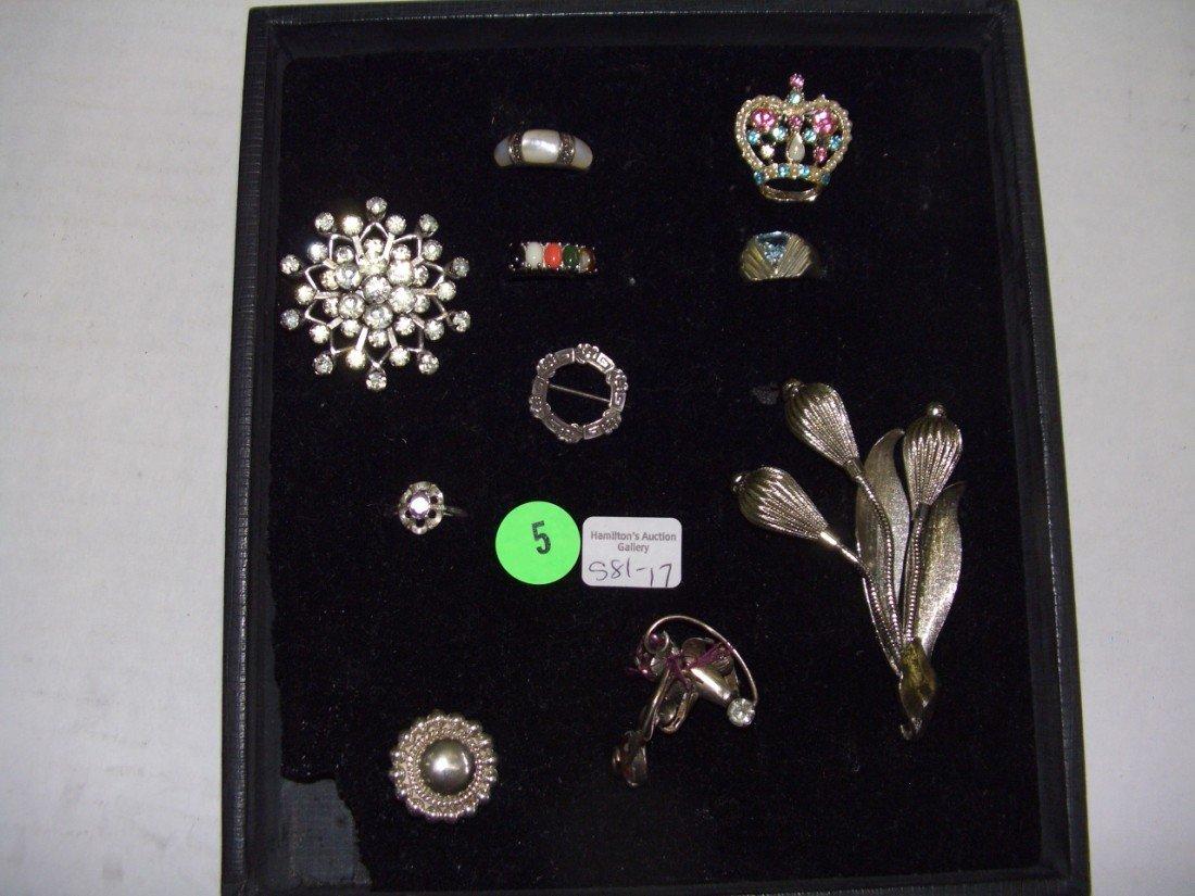 5: tray of estate jewelry