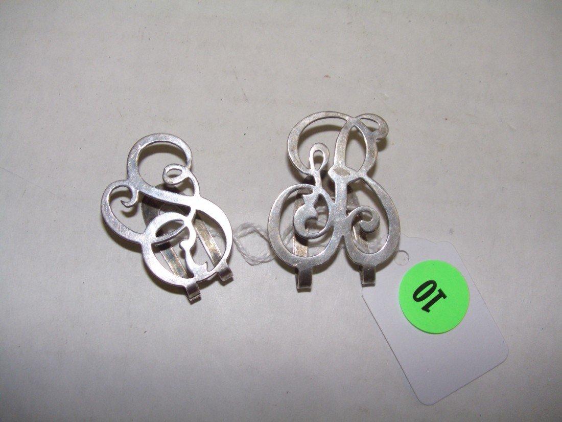10: 2 piece sterling antique money clips