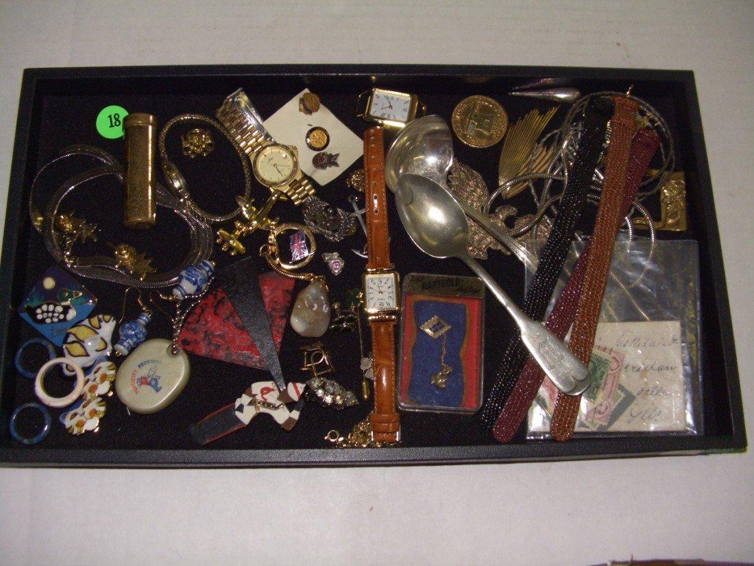 18: tray of estate jewelry