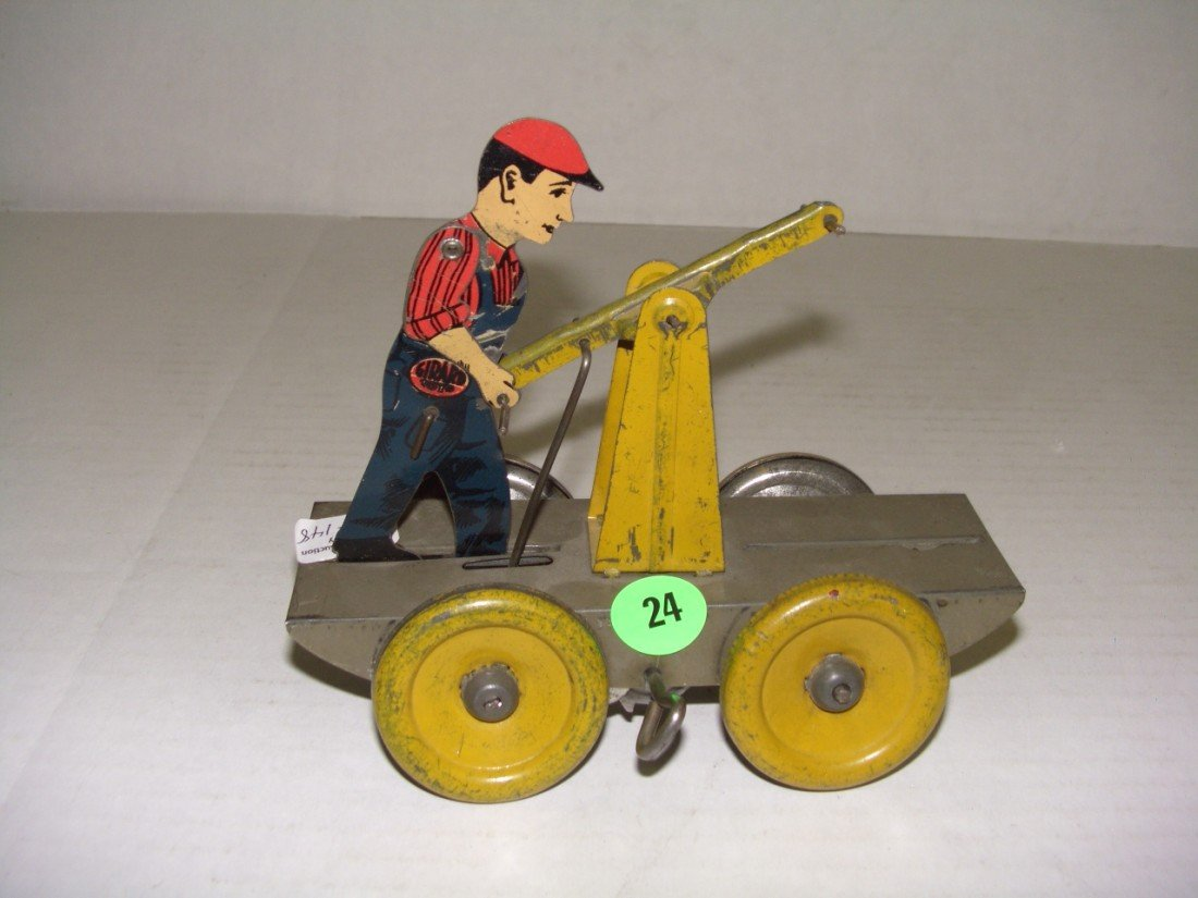 24: vintage girard wind up train worker (missing one ma