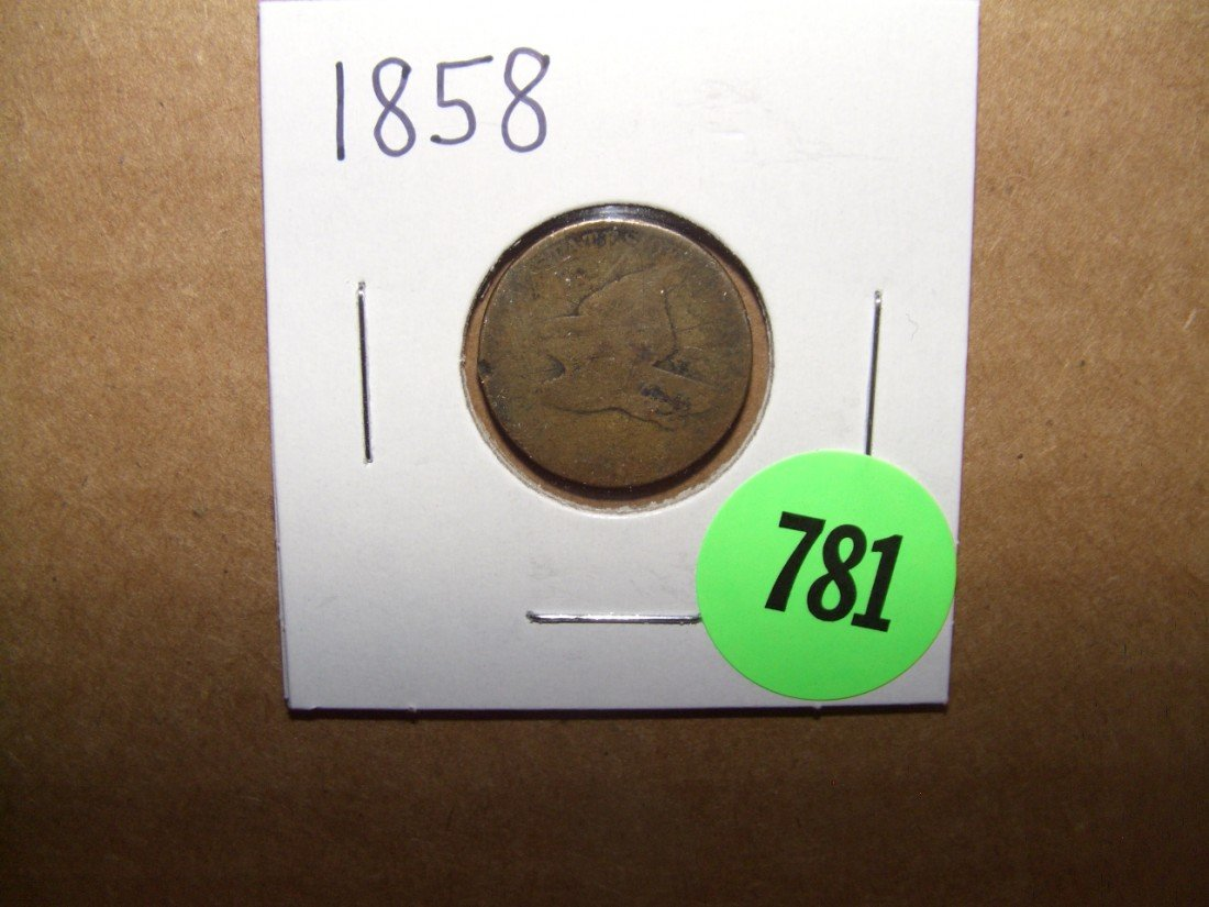 781: 1858 US Flying Eagle Cent