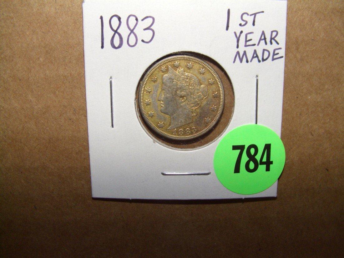 784: US 1883 1st year made Liberty Nickel