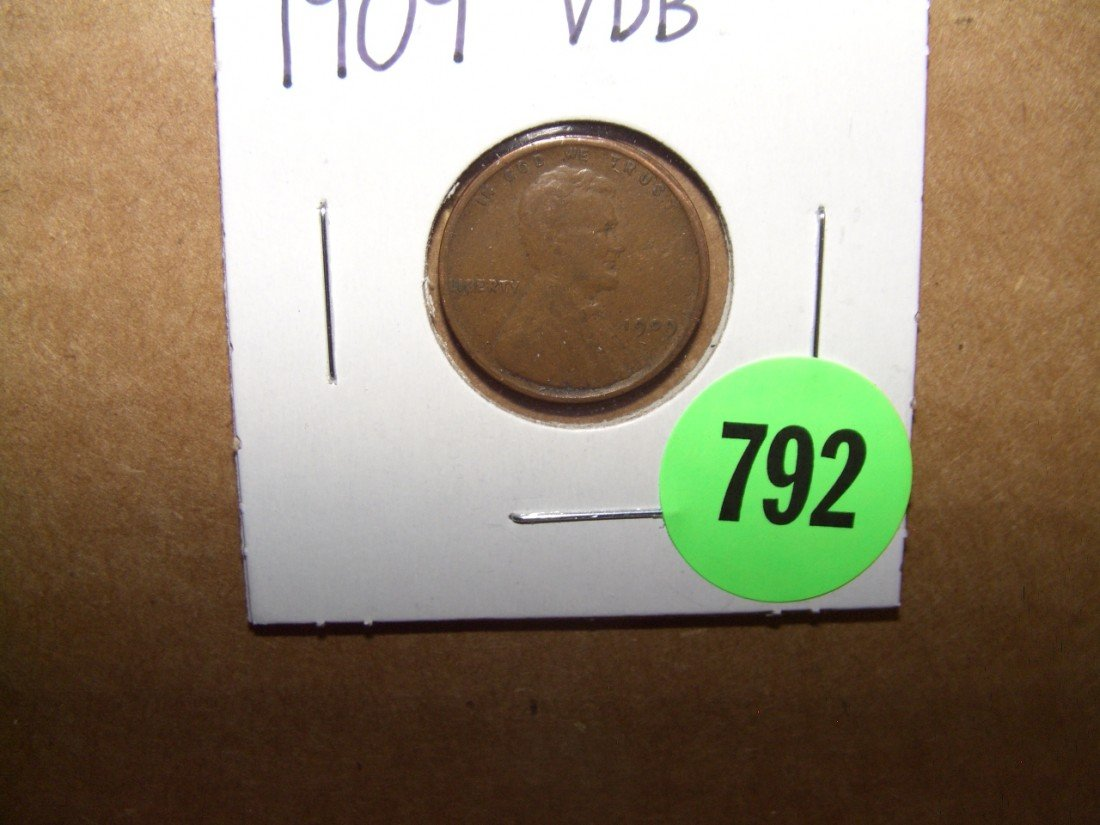 792: US 1909-VDB cent