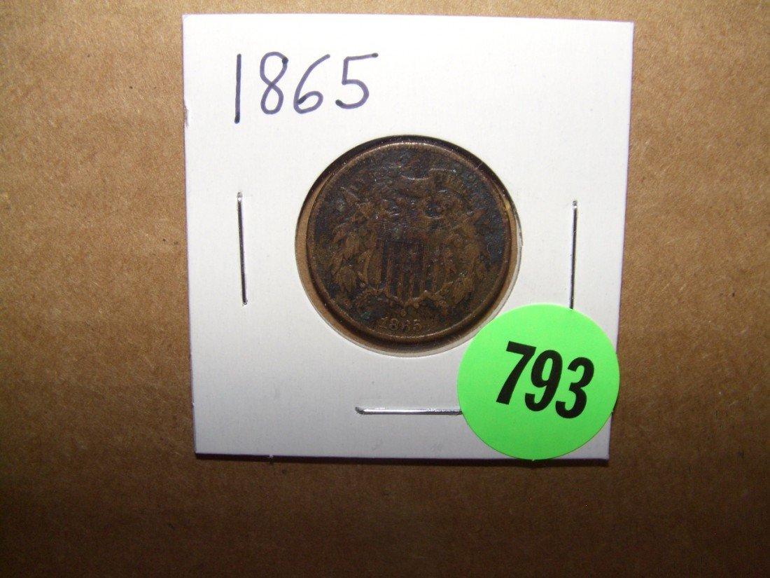 793: US 1865 2 cent piece
