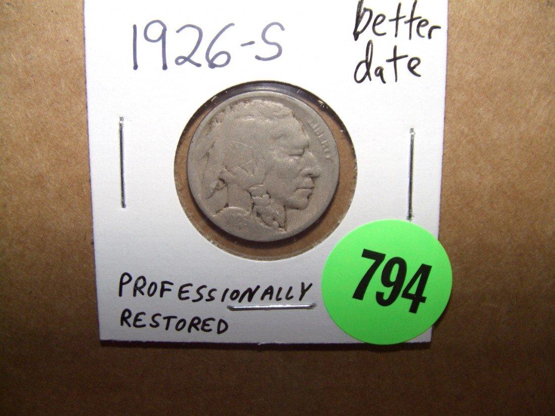 794: US 1926-S better date Buffalo Nickel
