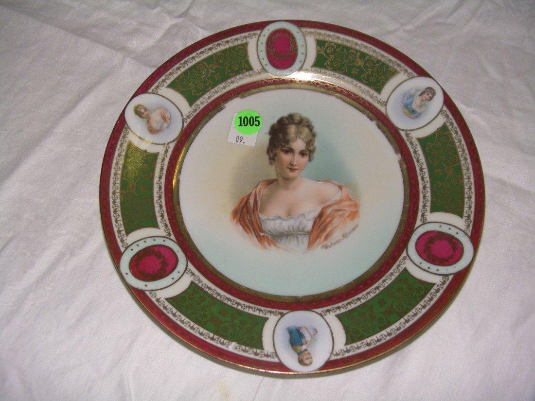 1005: antique porcelain Josephine & Napolean plate Roya