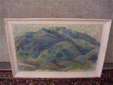 1076 oil painting on canvas by listed California artis