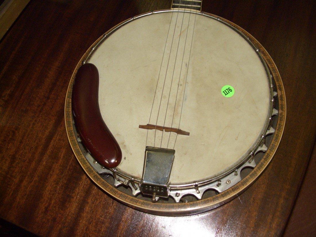 1176: vintage Banjo with applied Eagle on back, SSR - 2