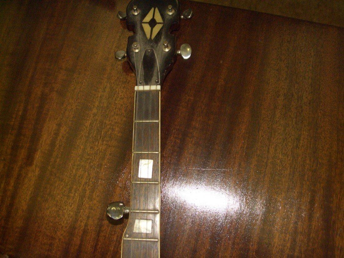 1176: vintage Banjo with applied Eagle on back, SSR - 3