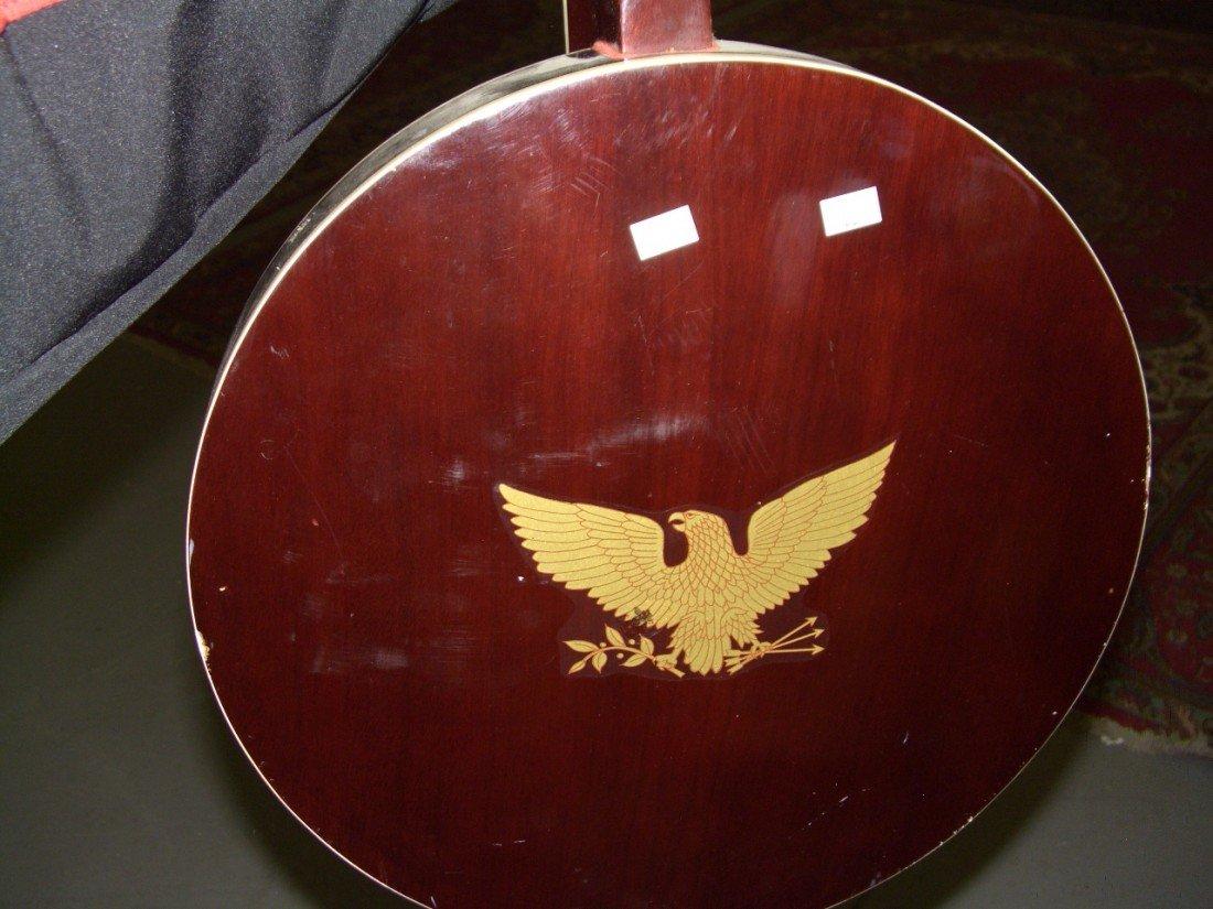 1176: vintage Banjo with applied Eagle on back, SSR - 4