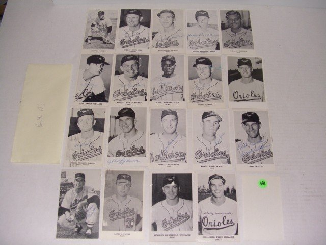 401: rare collection of 1950's (mostly pen signed) auto
