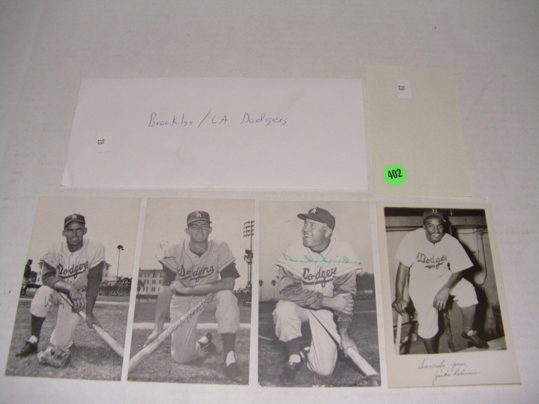 402: rare collection of 1950's (mostly pen signed) auto