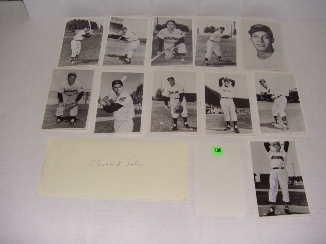 405: rare collection of 1950's (mostly pen signed) auto