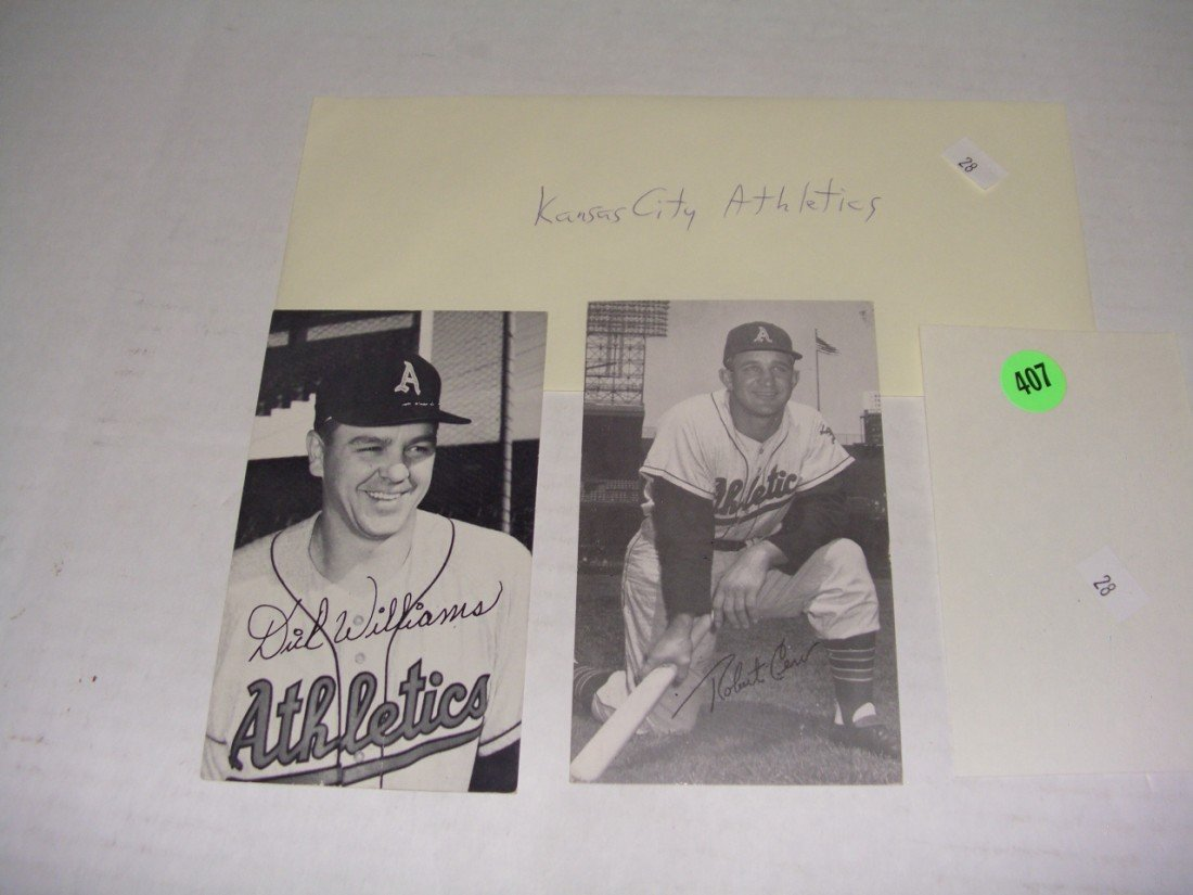 407: rare collection of 1950's (mostly pen signed) auto