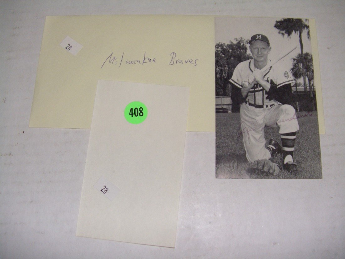 408: rare collection of 1950's (mostly pen signed) auto