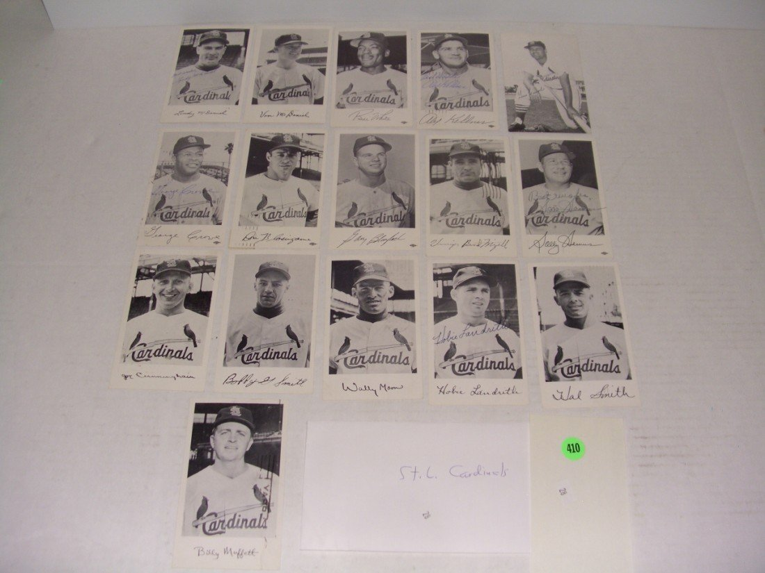 410: rare collection of 1950's (mostly pen signed) base