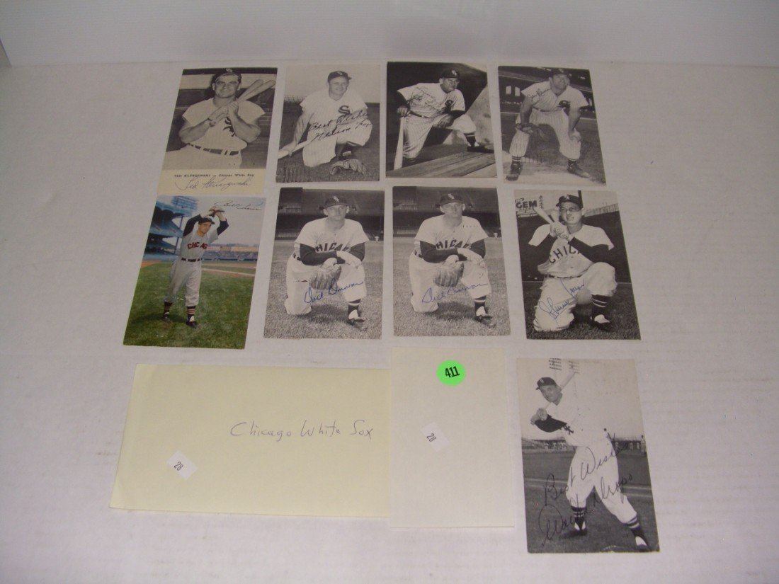411: rare collection of 1950's (mostly pen signed) auto