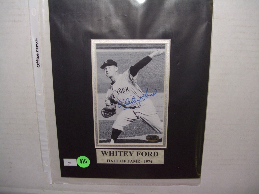 416: Baseball Hall of Fame Whitey Ford autographed phot