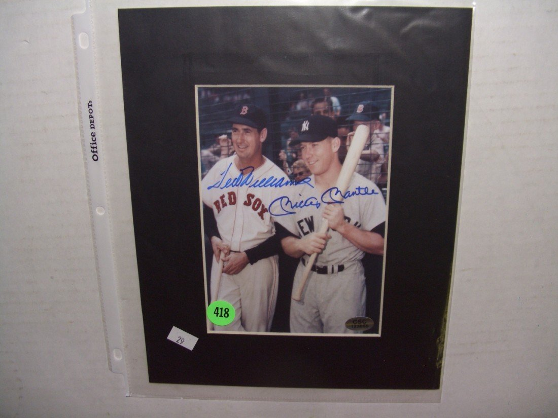 418: original autograph (signed) Ted Williams and micke