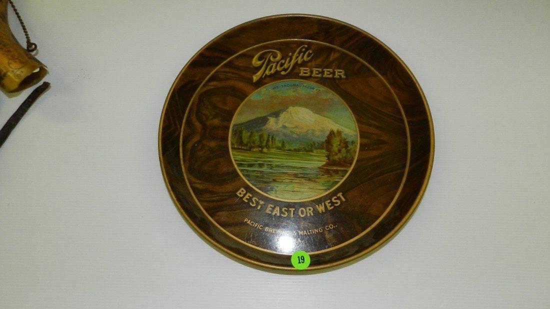 19: vintage Pacific beer tray Tacoma Wa Brewing C-43