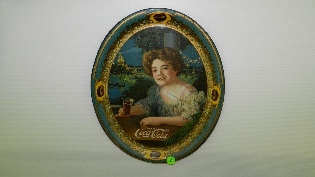 21: original 1909 Coca Cola Coke tray (as seen) with yo