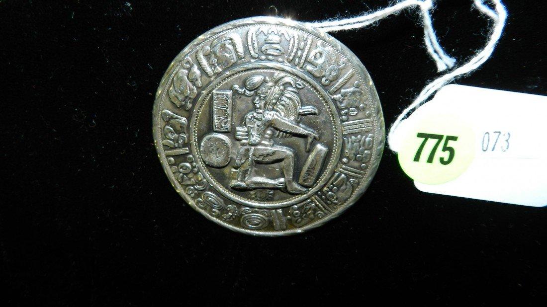 775: large stamped sterling estate brooch