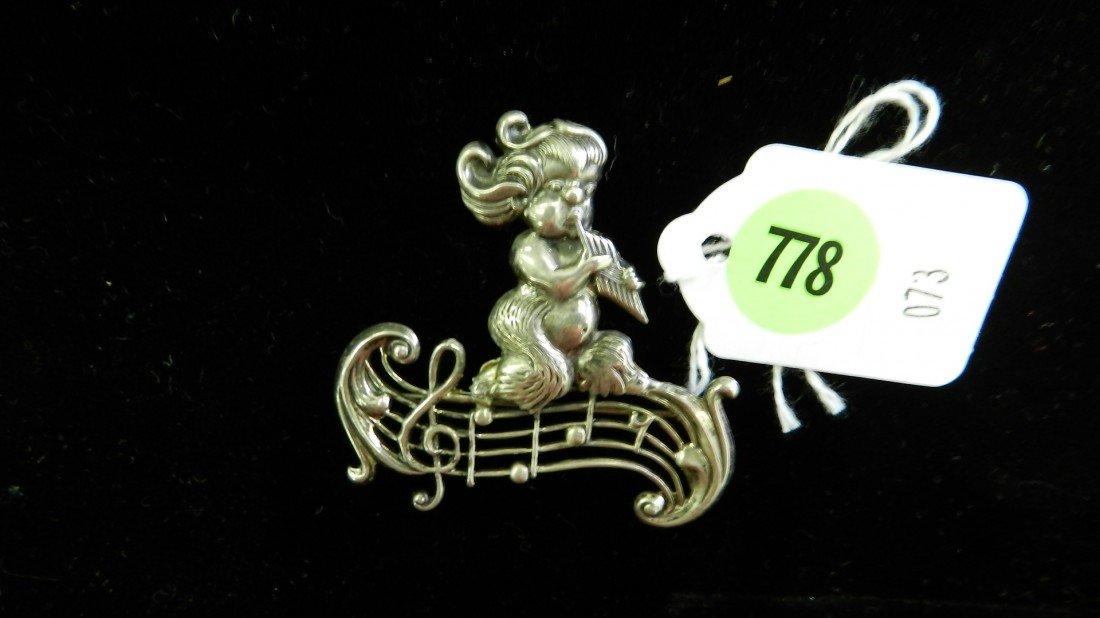 778: nice stamped sterling estate brooch