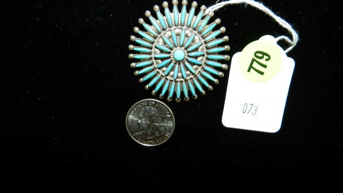 779: wonderful Native American sterling and turquoise b