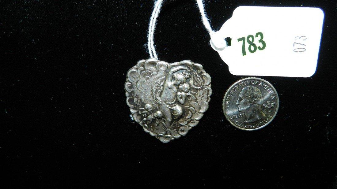 783: nice stamped sterling estate brooch