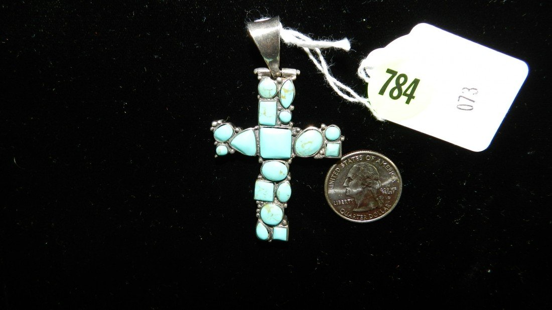 784: wonderful Native American sterling and turquoise c